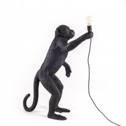 Monkey lamp-outdoor standing seletti black