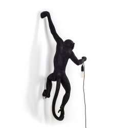 Monkey lamp-outdoor hanging seletti black