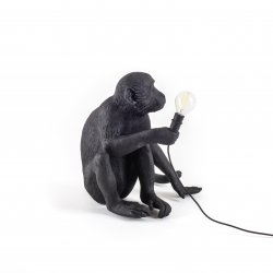 Monkey lamp-outdoor sitting seletti black
