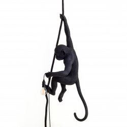 Monkey lamp-outdoor with rope seletti black