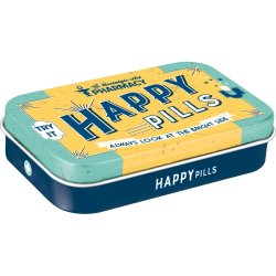 Pillerask happy pills - xl med mintpastiller