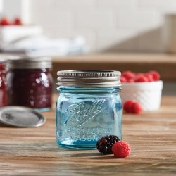 Mason jar Aqua Vintage Half Pint regular mouth