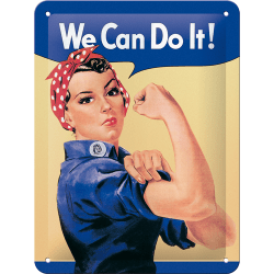 We can do it! Skylt 15x20 cm