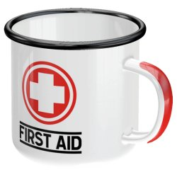 Emaljmugg first aid