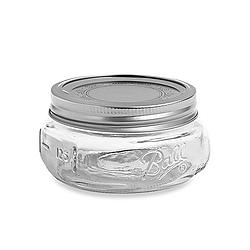 Mason jar half pint low elite