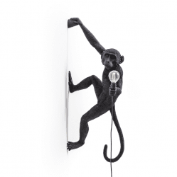 Monkey lamp-outdoor hanging right seletti black