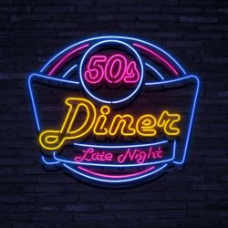 Neonskylt diner late night