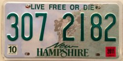 Licenseplate new hampshire