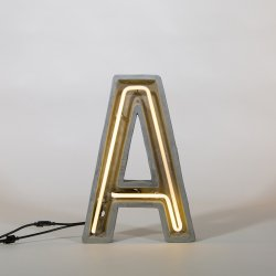 Alphacrete A - neon light in cement - Seletti