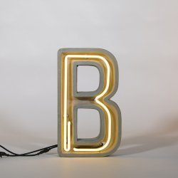 Alphacrete B - neon light in cement - Seletti