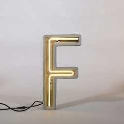 Alphacrete F - neon light in cement - Seletti