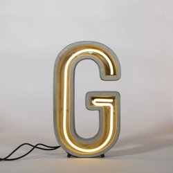 Alphacrete G - neon light in cement - Seletti