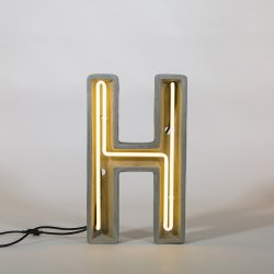 Alphacrete H - neon light in cement - Seletti