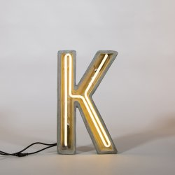 Alphacrete K - neon light in cement - Seletti