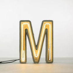 Alphacrete M - neon light in cement - Seletti