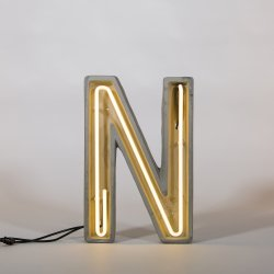 Alphacrete N - neon light in cement - Seletti