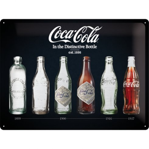 Coca cola black bottles skylt 30x40cm