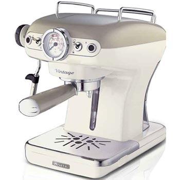 Ariete vintage espressomaskin I retrostil beige