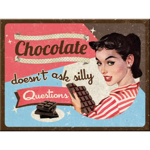 Magnet chocolate doesn´t ask 6x8cm