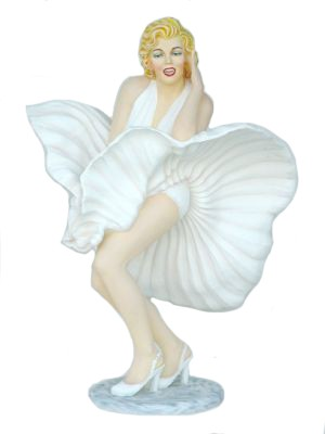 Monroe life size white dress 179 cm