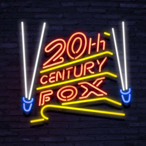 Neonskylt 20th century fox