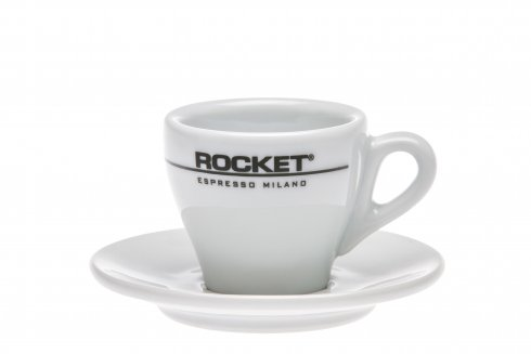 Rocket espressokopp med fat