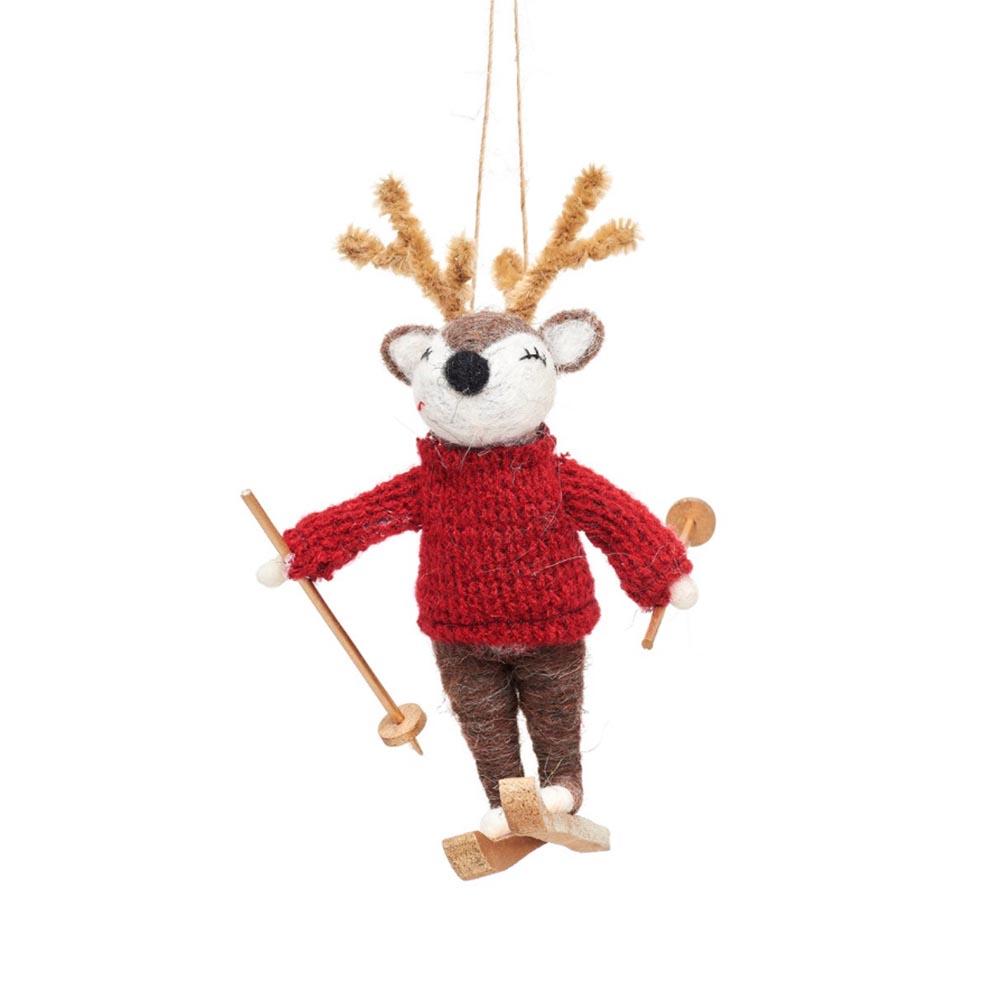 Julgransdekoration Hjort på Skidor